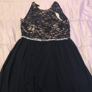 Black Long short Black Dress